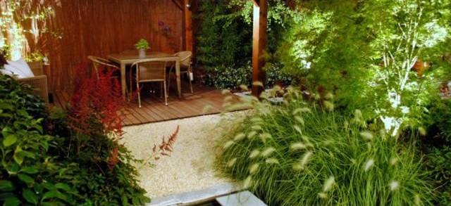 Paisajismo iluminaci n de jardines y exteriores - Jardines de exterior ...