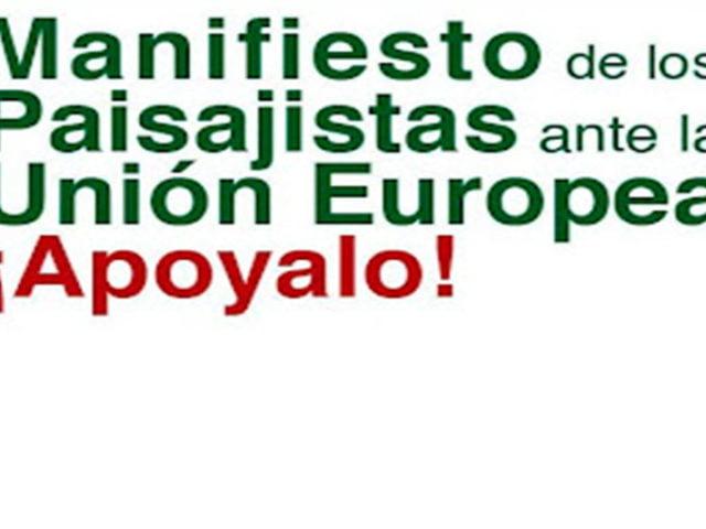 Manifiesto de los Paisajistas ante la Unión Europea