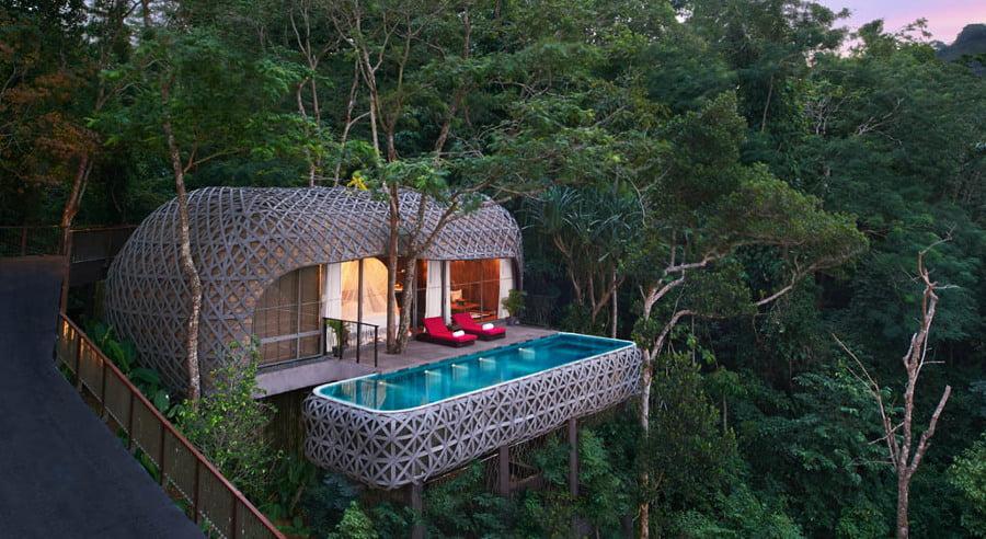 en tailandia encontramos una casa de rbol que cuenta con piscina te imaginas nadar en las alturas y en tu propia casa no te lo imagines puedes hacerlo
